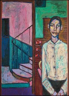 'In An Empty Room,' by Erekle Chinchilakashvili, Mixed Media Painting