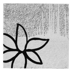 Black Flower on White