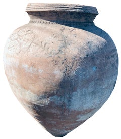Large antique Spanish Orchard Pot with inscriptions