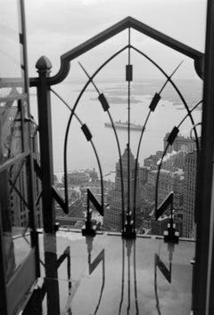 NYC Art Deco Ironwork Cityscape c.1930