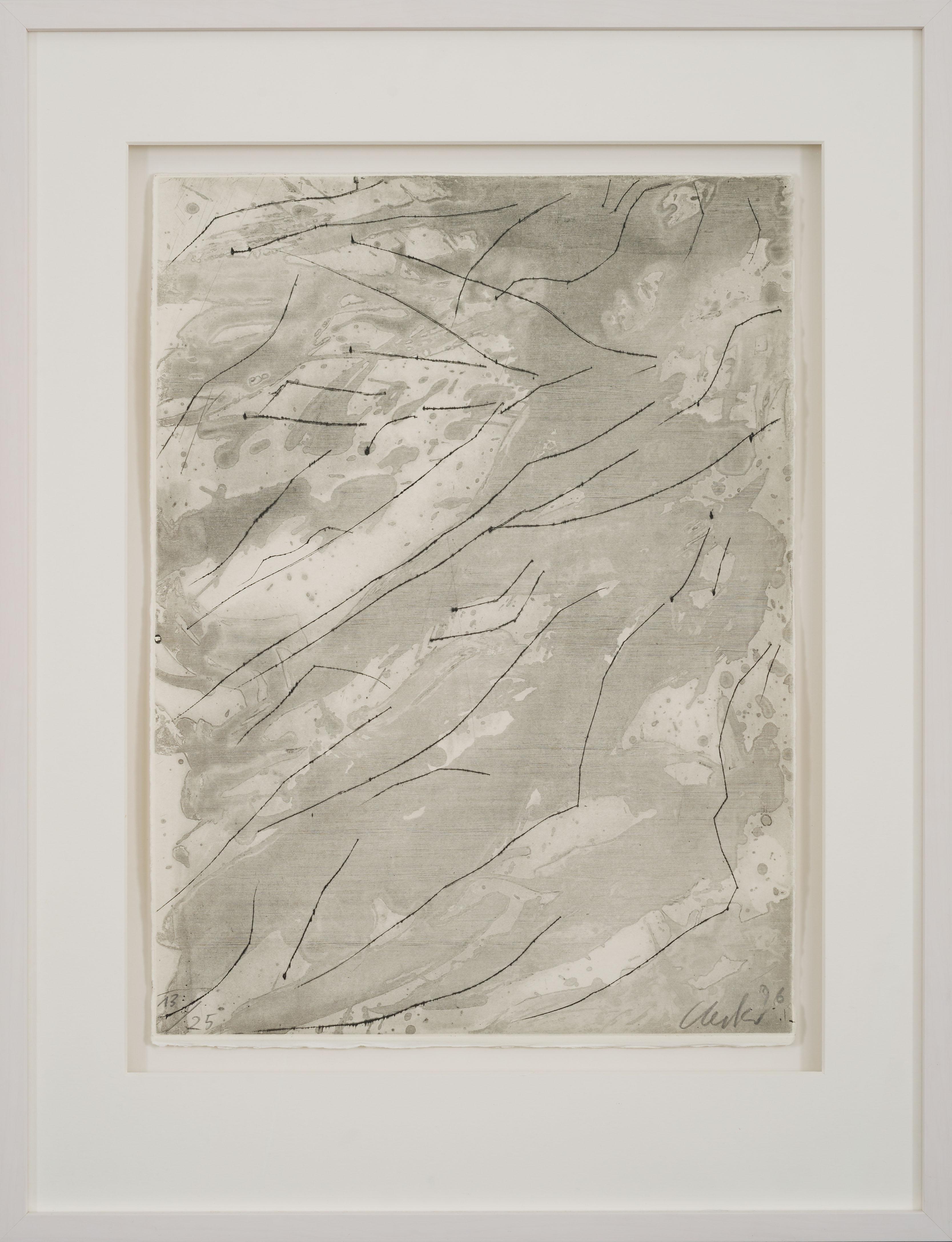 Medea - original etching contemporary art work by Günther Uecker, ZERO art