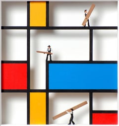 Homage to Mondrian- Work in Progress - art work, design tribute to Dutch master