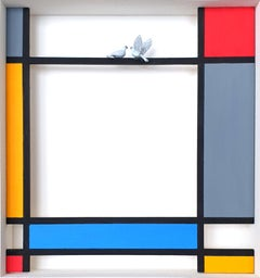 Homage to Mondrian - Perch - contemporary art work, design tribute Dutch master