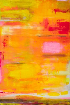 Purple Rain Two - abstract, contemporary art work, unique acrylic, vibrant color