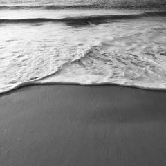 Silent Force - contemporary black and white photograph of ocean and foam