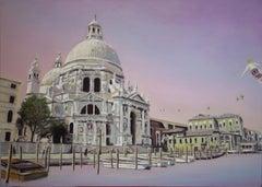 Venetian Light Jazz Piece - contemporary, figurative landscape of city of Venice