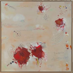 Quantum World - contemporary abstract artwork, playful homage to Cy Twombly