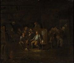 Boors in a Tavern, Painted in the Circle of Egbert Van Heemskerck, 17th Century