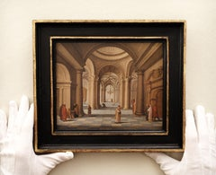 An Ideal Cathedral Interior by Jan Van Der Vucht, Signed, Old Master