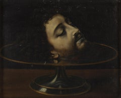 Head of Saint John the Baptist - by a Follower of Andrea Solario, Old Master