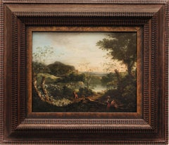 An Italinate River Landscape by a Follower of Jan van Huysum, Oil on Panel