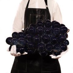 Grapes, Large Sculpture in Deep Blue Colour. Artist Kjell Janson