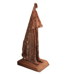 Terracotta Sculpture by Evert Lindfors, Sweden, Similarities with A.Giacometti