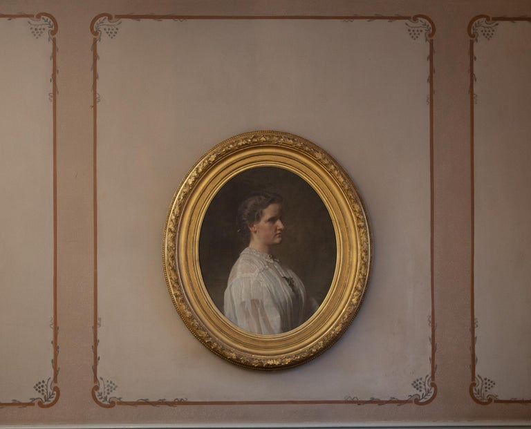 Portrait of Alice Ritter by Ferdinand Fagerlin. Oil on Canvas For Sale 1