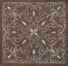 Vintage - Chocolate Cushion - Embroidered Tapestry Wall Hanging