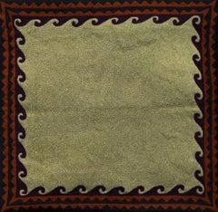 Old Uzbek: Border - Embroidered Tapestry Wall Hanging