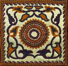 Old Uzbek - Embroidered Tapestry Wall Hanging