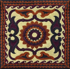 Old Uzbek - Small - Embroidered Tapestry Wall Hanging