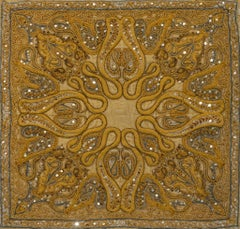 Jamavar: Gold - Embroidered Tapestry Wall Hanging