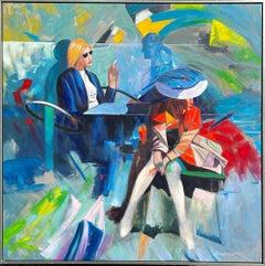 Cafe' Society ** Original Acrylic on Canvas