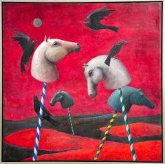 Hector Acevedo ** Garden Of Oblivion ** Original Oil On Canvas