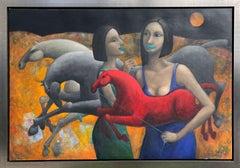 Hector Acevedo ** Night ** Original Oil On Canvas