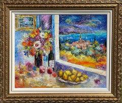 Duaiv * Van Gough Home * Original Oil On Linen