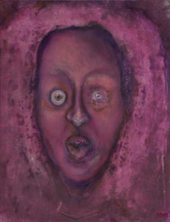 Gila Hamzani  ** Terrified ** Original Acrylic On Canvas