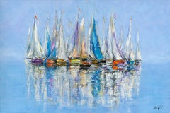 Duaiv * Les Douces Voiles * Original Oil On Canvas