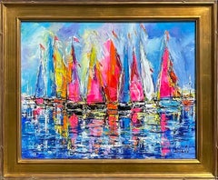 Duaiv * Sails of Colors * Original Oil On Linen