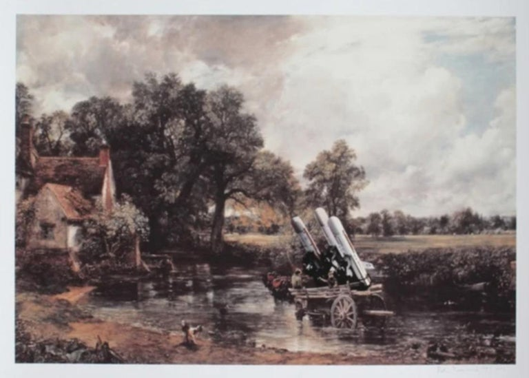 Peter Kennard  Landscape Print - Haywain with Cruise Missiles