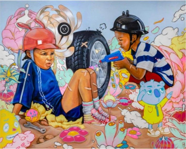 kayla Mahaffey Abstract Print - Stranded