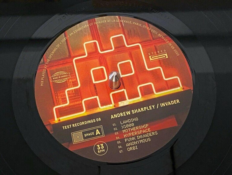 INVADER Andrew Sharpley Vinyl LP 180g Limited Edition of only 1000 Pressings Engraved on the Vinyl, not signed -Refer to pictures Sealed Vinyl Record - Never been opened - In excellent condition  This vinyl is a reworked version of the mix played by