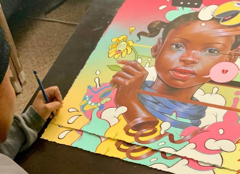 Disjointed - Street Art Print by kayla Mahaffey