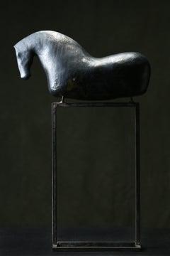 Bogulaw Popowicz, Unique Brown Horse, Welded Ceramic Technique, 53x32x11cm, 2019