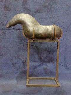 Bogulaw Popowicz, Unique Golden Horse, Welded Ceramic Technique, 46x37x10cm 2019