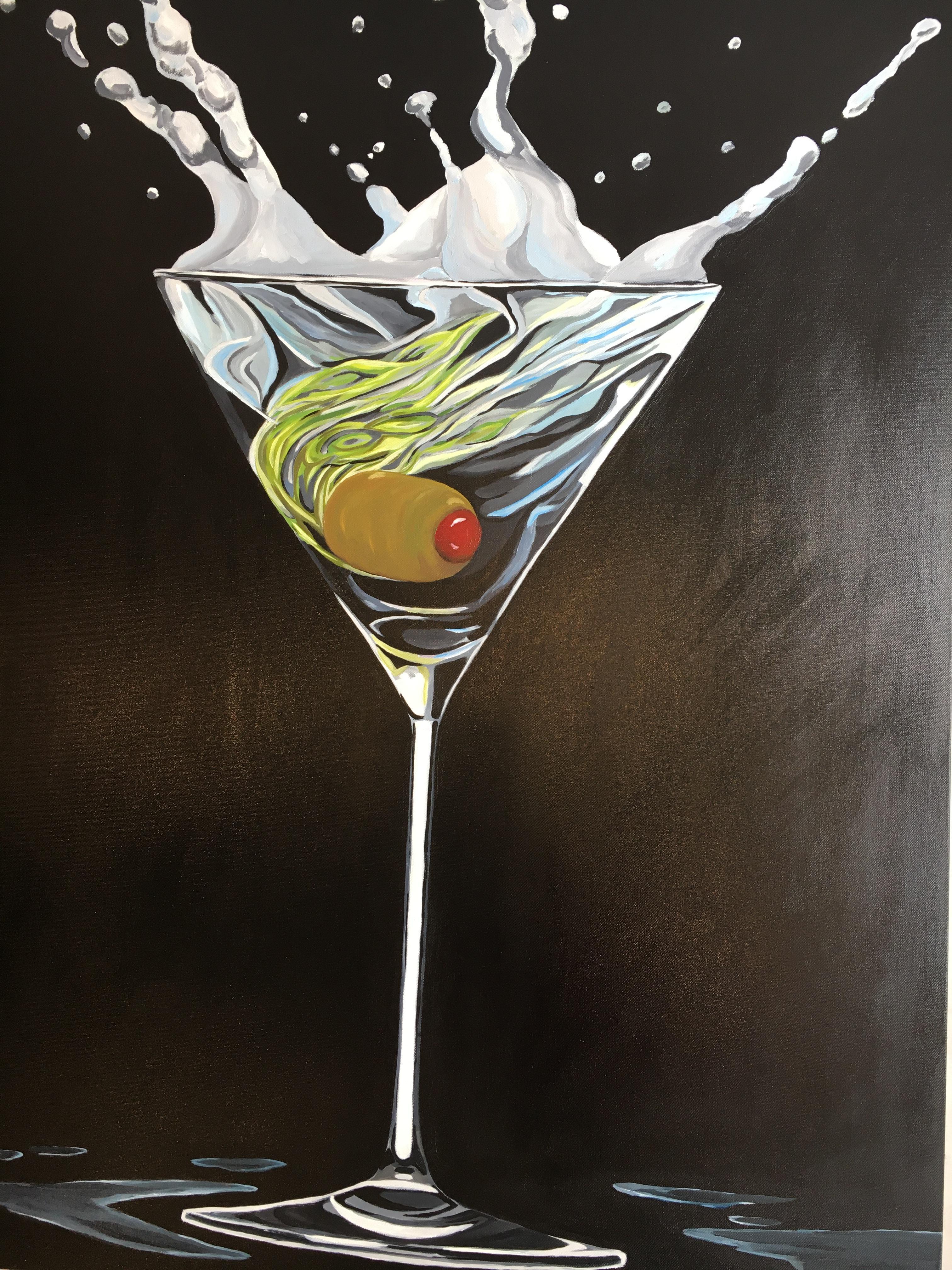 Pop Art, Splash of Celebration. Title - Cocktail Glass