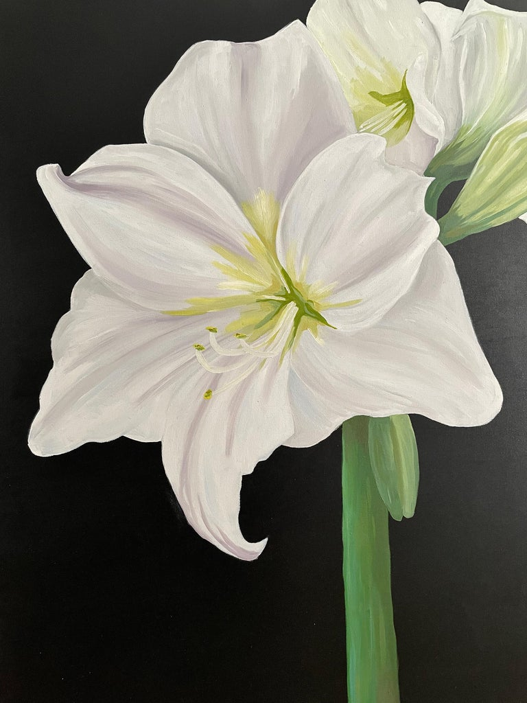 """Ken Miller Still-Life Painting - Amaryllis, Occasionally Referred to as """"Naked Lady."""" Title - Amaryllis"""