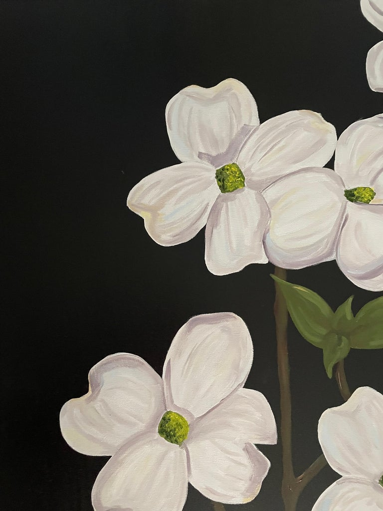 Jubilant White Flowers with Verdant Leaves on Branches. Title - Wild Dogwood For Sale 2