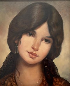 With the beauty of her entire heritage.  Title - La Espanolita