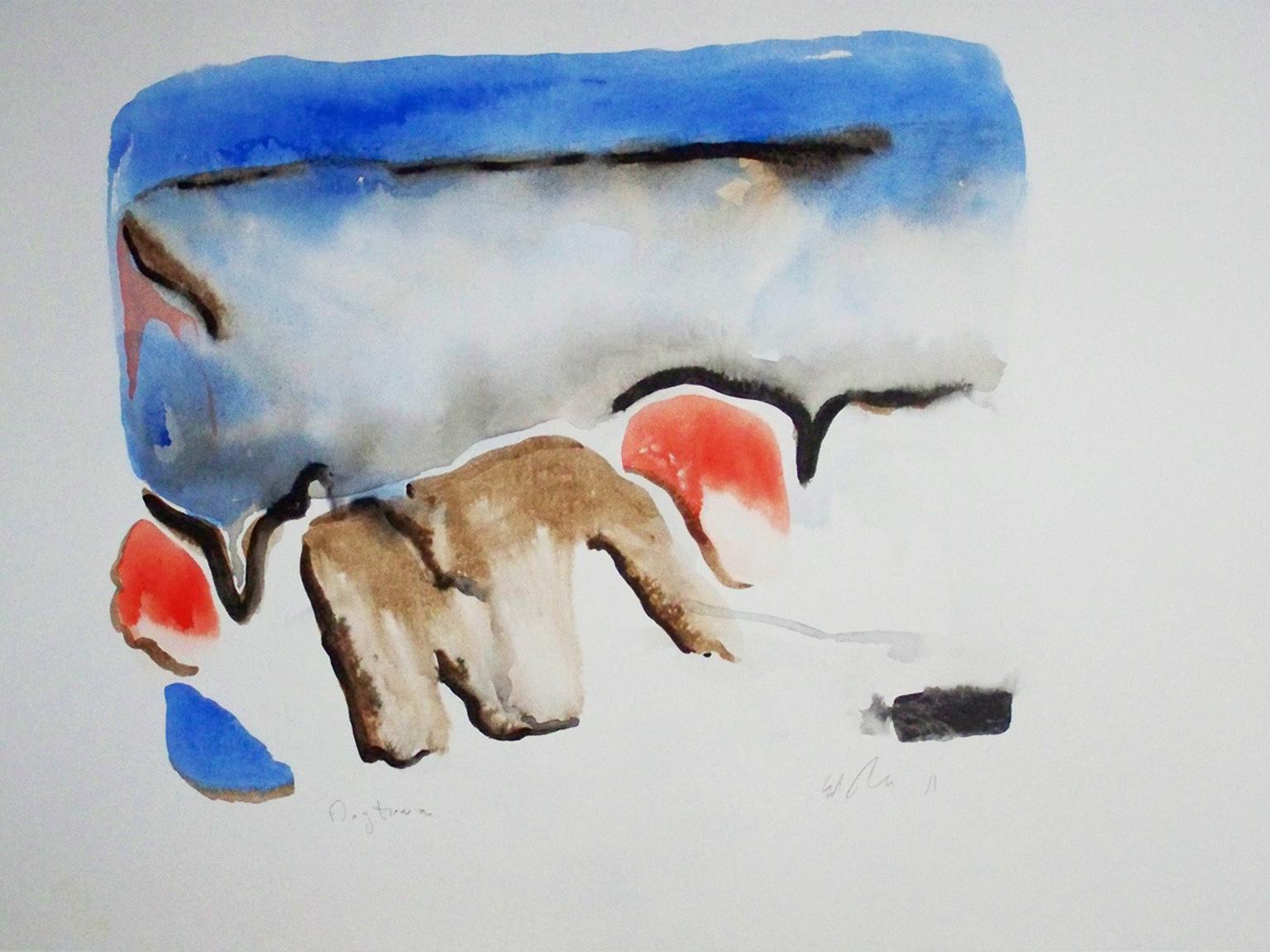 Bauhaus Drawings and Watercolor Paintings