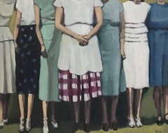 "Beth Dacey, ""Summer Gathering"", Vintage Figurative Oil Painting, 2020"