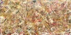 Abstract Expressionist Contemporary Painting by Troy Smith, Green, White, Red