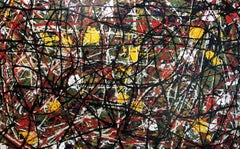 Abstract Expressionist Contemporary Painting by Troy Smith, Yellow, Green, Red