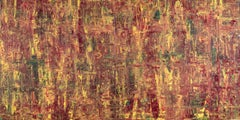 Abstract Expressionist Fine Art Contemporary Painting by Troy Smith, Red, Yellow