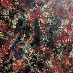 Abstract Expressionist Fine Art Contemporary Painting by Troy Smith Red, Blue