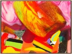 """Faux Plastics #1"" Scanography Plasticized Pigment Print by Doug Edge, Framed"