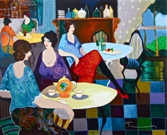 Afternoon Tea, Limited Edition Silkscreen, Itzhak Tarkay