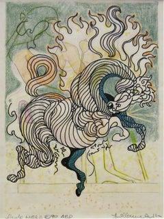 Etude Libra, Original Drawing, Guillaume Azoulay