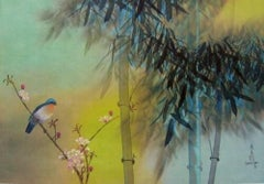 Spring Bamboo, Original Lithograph, David Lee